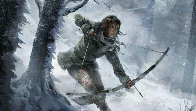 Lara auf der Jagd im Schnee.