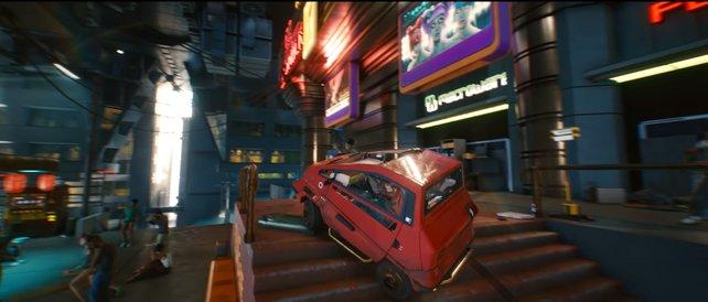 Nun, nicht jedes Auto in Cyberpunk 2077 lässt den technologischen Fortschritt erkennen.