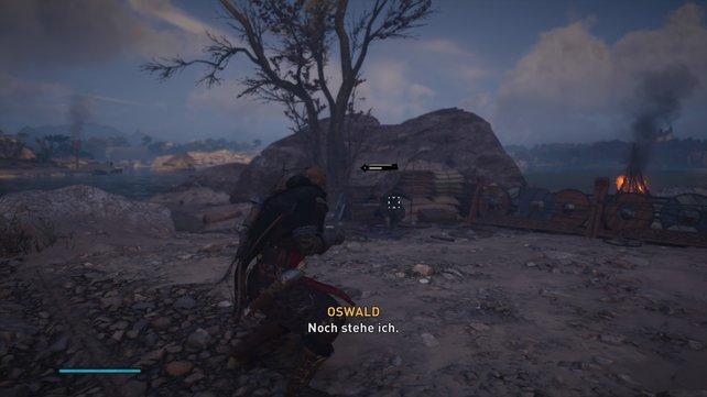 Der Kampf gegen Oswald ist leicht. Weicht seinen Hieben aus und setzt mit drei präzisen Schlägne nach.