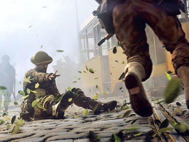 Tödlich verwundete Spieler können im Multiplayer von Battlefield 5 um Hilfe rufen.