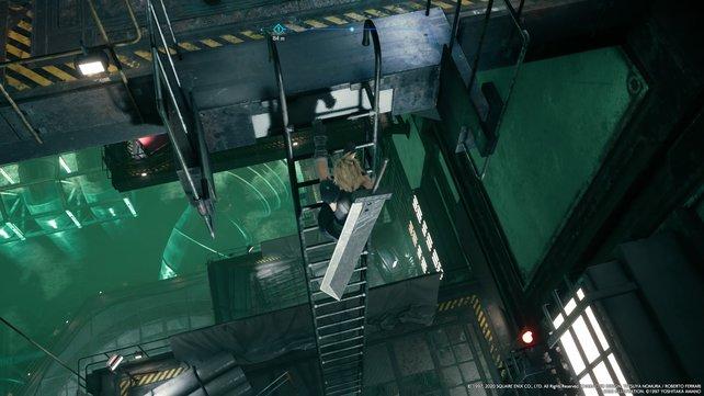 Ihr könnt die Leitern schneller hinunterrutschen, indem ihr L3/R1 gedrückt haltet.