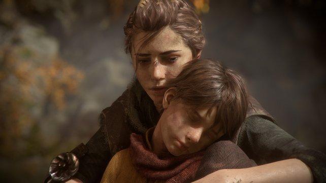 Die Geschwister Amicia und Hugo sind der Mittelpunkt der düsteren Geschichte.