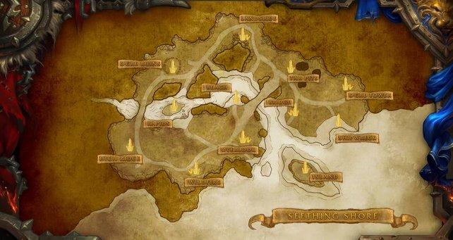 Die Seething Shore wird ein neues Schlachtfeld mit dynamischen Kartenzielen darstellen.