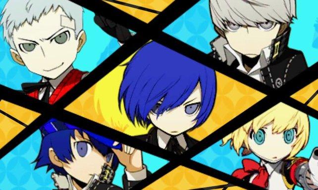 Die Figuren aus Persona 3 und Persona 4 treffen aufeinander.