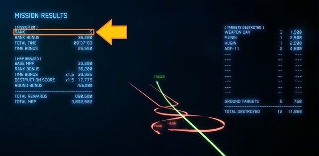 Gute Arbeit! Der S-Rang erhöht zudem eure erhaltenen MRP am Ende einer Mission stark.