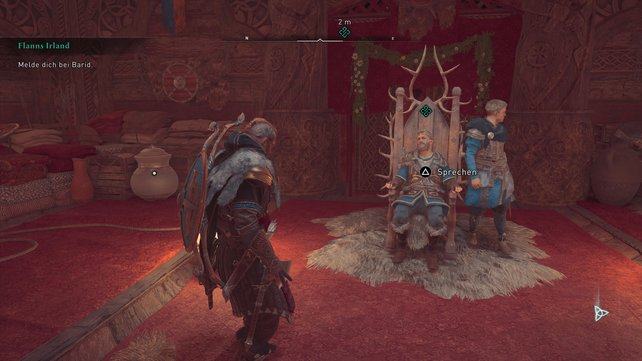 König Barid will der Krönugszeremonie von Flann Sinna beiwohnen, braucht vorher aber Eivors Hilfe.