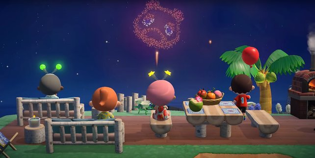 Freut euch auf buntes Feuerwerk in Animal Crossing: New Horizons