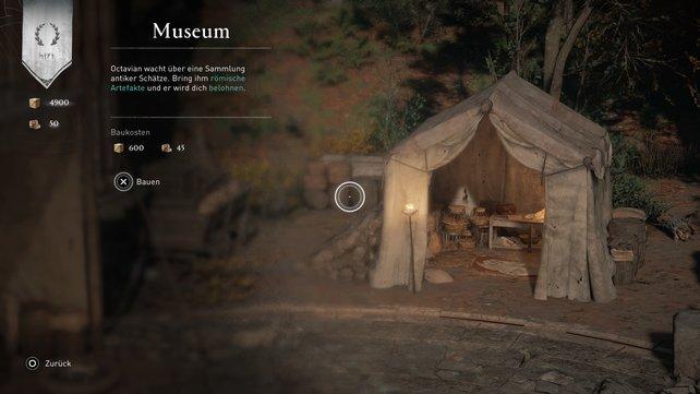 Im Museum könnt ihr eure gesammelten Römischen Artefakte eintauschen.