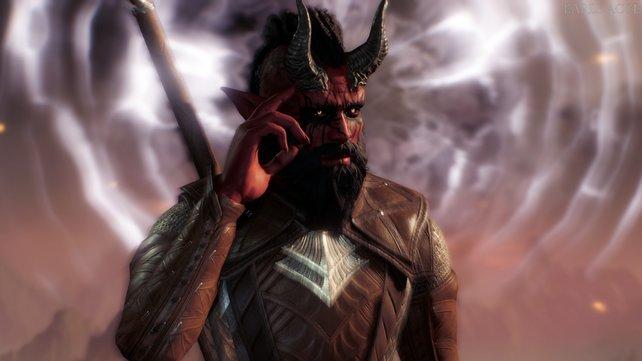 Ein Tiefling, wie er im Buche steht. In Baldur's Gate 3 könnt jeden Charakter individuell anpassen.