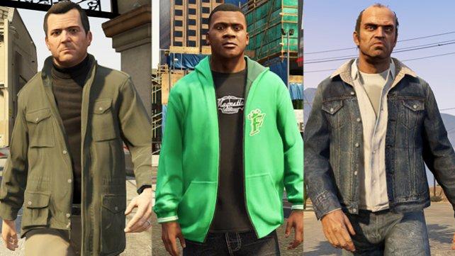 Auch sie haben ihre Geschichte: Michael, Franklin und Trevor.
