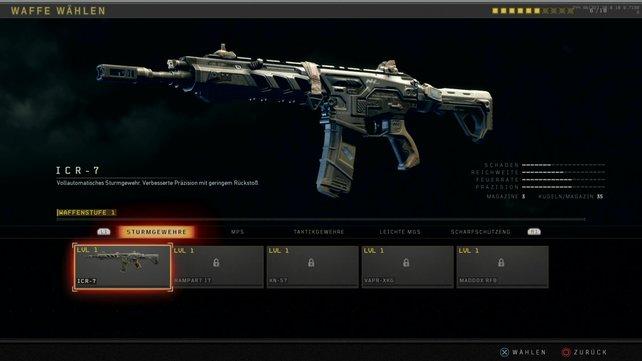 Eine der besten Waffen in Black Ops 4 erhaltet ihr gleich zu Beginn: das Sturmgewehr ICR-7.