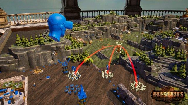 Spielt ihr im Multiplayer-Modus, wird der Gegner in Form einer blauen Silhouette angezeigt.