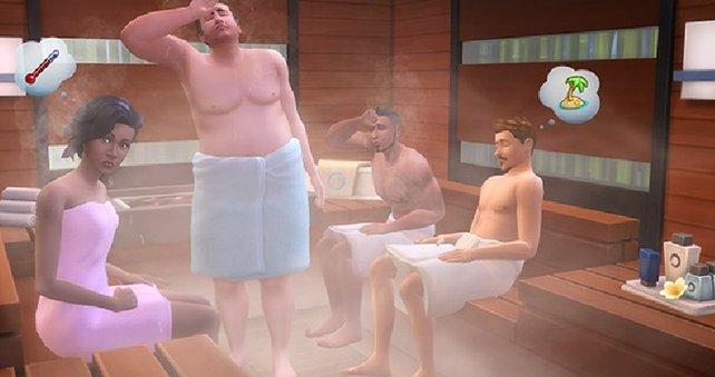 In der Sauna geht es heiß her.