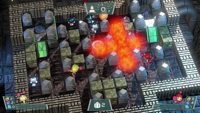 Super Bomberman R von Konami: Zum Glück kommt es bei dem Spielprinzip nicht primär auf die Grafik an.
