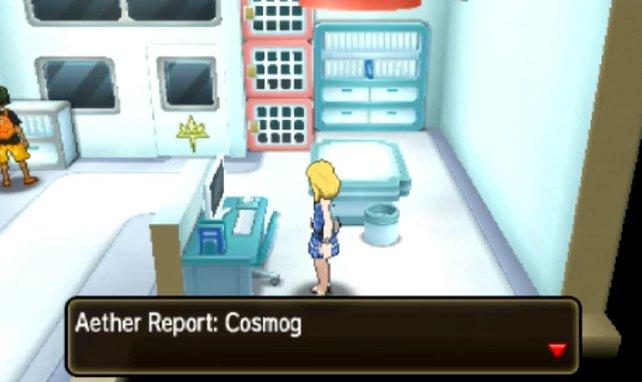 Der Computer klärt euch über Cosmog und die Ultrabestien auf.