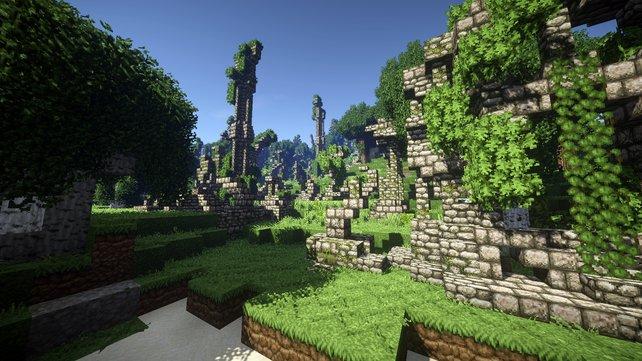 So schön kann Minecraft mit Shadern aussehen.
