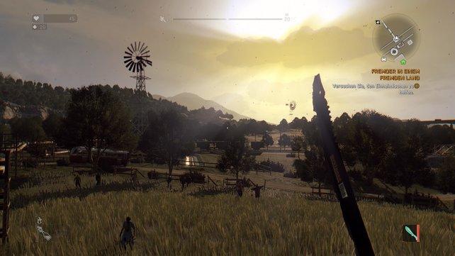 Dying Light - The Following: Eine schicke Waffe verschönert das Gesamtbild.