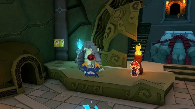 Die Krabbe flüchtet mit dem roten Juwel, das ihr für den Dungeon benötigt.