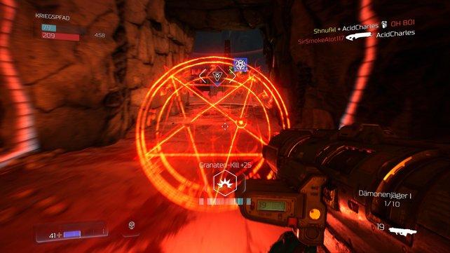 Das Dämonen-Power-Up im Multiplayer ist kaum zu übersehen.