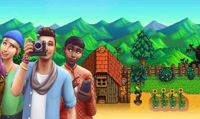 Die Sims 4 und Stardew Valley passen gut zusammen. Das beweist ein Fan. Bild: EA / ConcernedApe