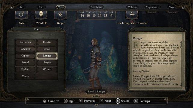 Im Charakter-Editor von Pillars of Eternity könnt ihr viel Zeit verbringen.
