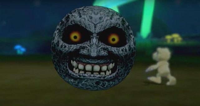Der Mond aus Majora's Mask schenkt euch immerzu ein zauberhaftes Lächeln.