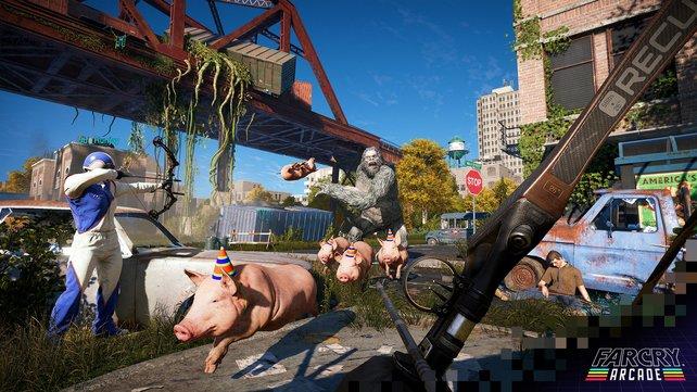 Far Cry - Arcade: Auf selbsterstellten Maps geht es richtig trashig zur Sache.
