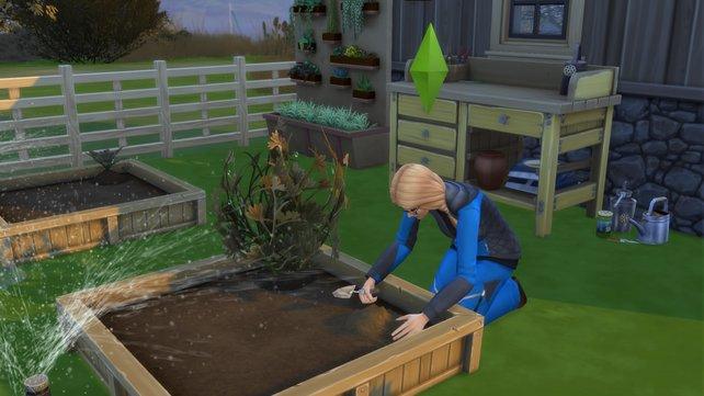Bei schönem Wetter lässt es sich gleich besser gärtnern.