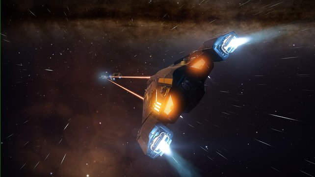 Manövriert den Gegner geschickt aus, um ihn mittels Laserbeschuss den Rest zu geben.