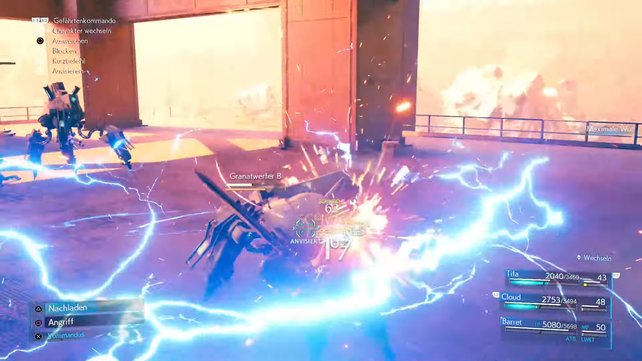 Da die Granatwerfer Maschinen sind, sind Blitzelementare Angriffe ihre größte Schwäche.
