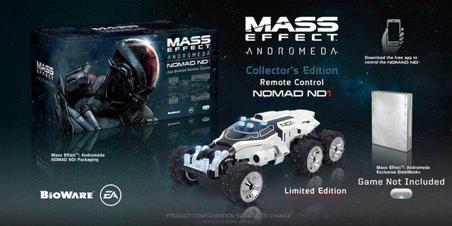 In dieser Collector's Edition steckt der limitierte und fernsteuerbare Nomad ND1.