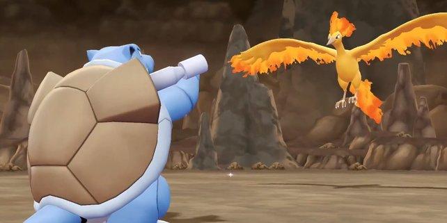 Mit einem Wasser-Pokémon wie Turtok habt ihr sehr gute Chancen gegen Lavados.