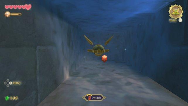 Der Flugkäfer ist sehr nützlich, um Areale zu erkunden und Geheimnisse zu entdecken.