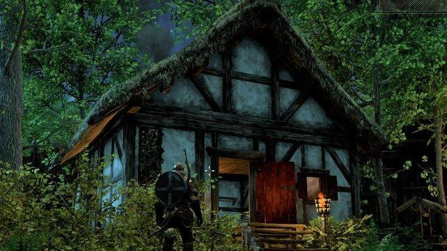 Kauft ein Haus und verziehrt es mit Dekorationen.