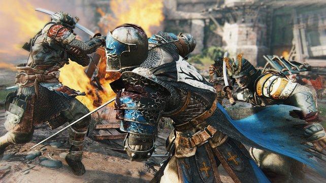 Ein Ritter gegen zwei Samurai ... da stehen die Gewinner schon fest.