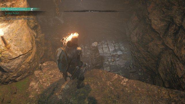 Passt in den Höhlen auf die Dornenfallen auf, die euch durchlöchern, solltet ihr zu lange auf ihnen stehen bleiben.