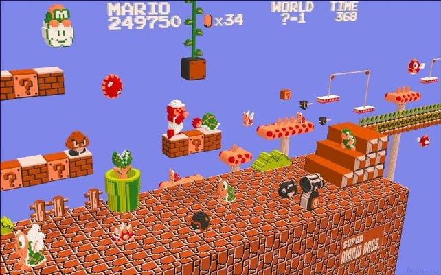 Künstler von heute malen sich aus, was Mario damals wohl gesehen haben mag.