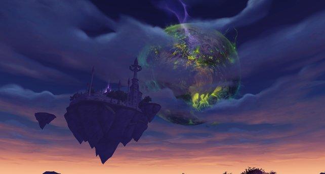 Besiegt ihr Kil'Jaeden, erscheint am Himmel Argus in weiter Ferne...