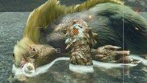 Monster Hunter Rise: Bombadgy beim Gasausstoß und schlafendes Arzuros fotografieren