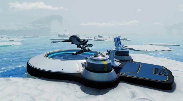 Mit dem Schneefuchs ist man auch an Land mobil (Bild: Subnautica: Below Zero | Unknown Worlds Entertainment)