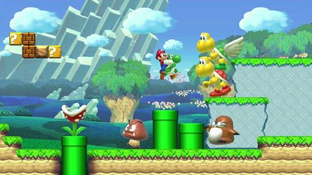 Die HD-Figuren das aktuellen New Super Mario Bros. sehen auch heute noch knackig-scharf aus.