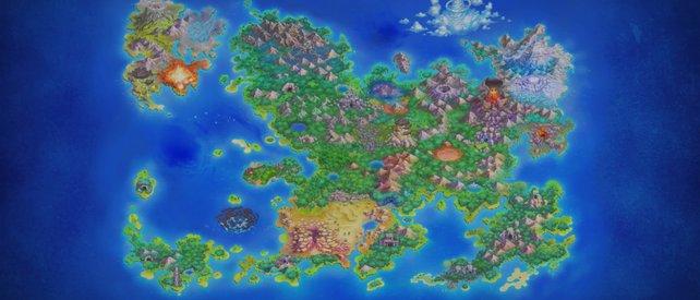 Das ist die Dungeon-Karte von Pokémon Mystery Dungeon: Retterteam DX.