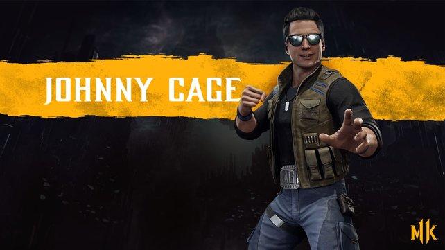 Die Hollywood-Grinsebacke Johnny Cage ist von Anfang an mit dabei.