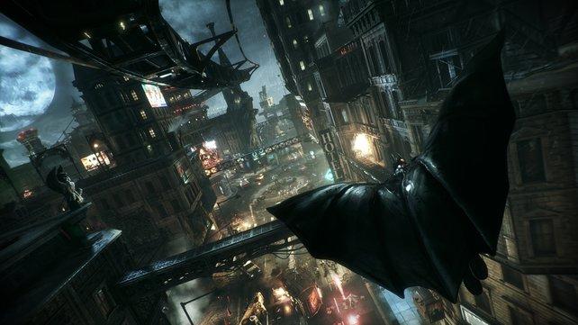 Die offene Spielwelt ist fünfmal größer als in Arkham City.