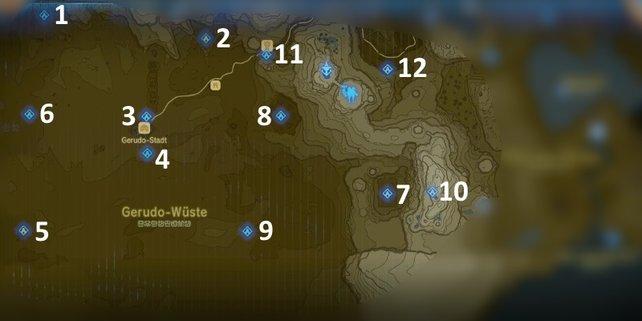 Zelda Botw Alle Schreine Karte.Zelda Breath Of The Wild Schreine Turm Der Wüste Spieletipps