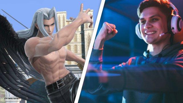 Sephiroth, der neue Kämpfer in Super Smash Bros. Ultimate, ist bereit für den Kampf. Bildquelle: Getty Images / Artem Peretiatko