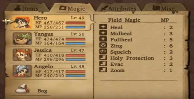 Im Menü von Dragon Quest 8 könnt ihr die Waffen eurer Begleiter austauschen.