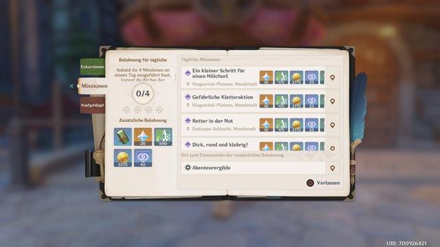 Daily Quests schaltet ihr auf Stufe 12 frei.
