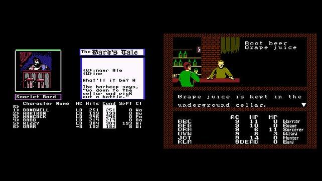 Auf dem C64 (links) gibt es Wein, auf dem NES müsst ihr mit Traubensaft (rechts) Vorlieb nehmen. (Bild von schnittberichte.com)