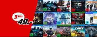 MediaMarkt: 3 Spiele für 49 Euro